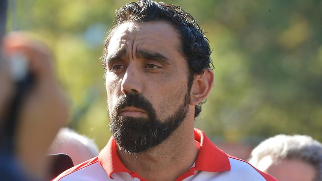 """Adam Goodes says he was """"gutted"""" and couldn't celebrate the Sydney Swans' win because of a 13 year old girls racist comment"""