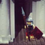 Lego soldier at the Nicholson Museum. Credit: Vicki Lu @onceuponafoodie