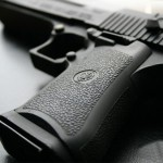 Hand Gun Close Up