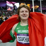 Belarus's Nadzeya Ostapchuk was stripped of the shot put gold medal she won in London, after failing a doping test. Source: Getty Images