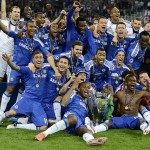 Chelsea celebrated in style after their dramatic win on penalties. Source: EPL Talk