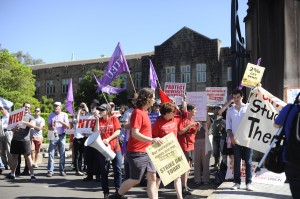 NTEU action on March 7 at the University of Sydney. Photo: Stella Ktenas