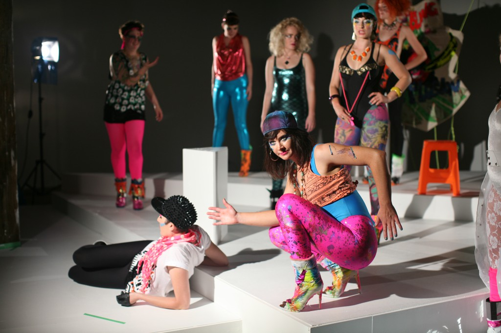 Chicks on Speed, Lycra Ladies and Billy Lime, U is for Utopia, 2013, production still, courtesy of the artists, collaborators and Artspace Sydney