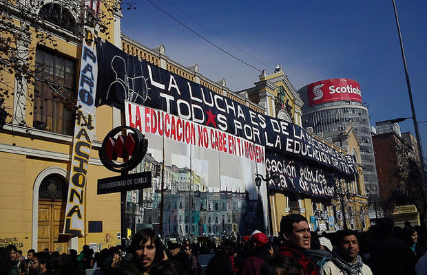 A 2011 education protest in Chile. (Image: Osmar Valdebenito, Flickr)