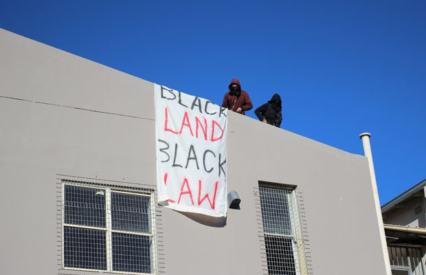 A sign from the Block protest. Image: taken by Sean O'Grady.