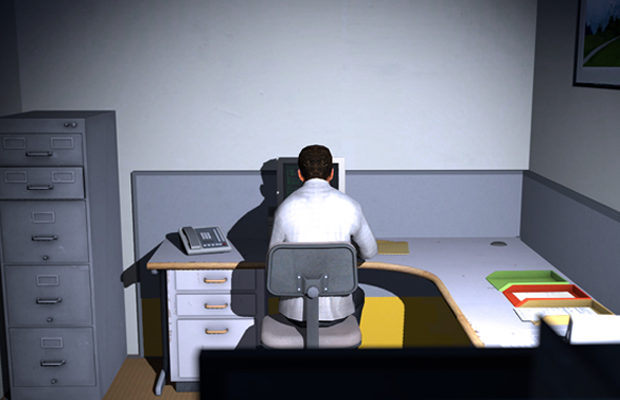 A scene from The Stanley Parable.