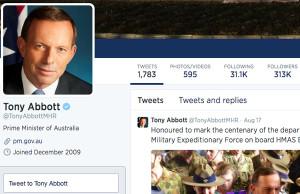 tony abbott twitter