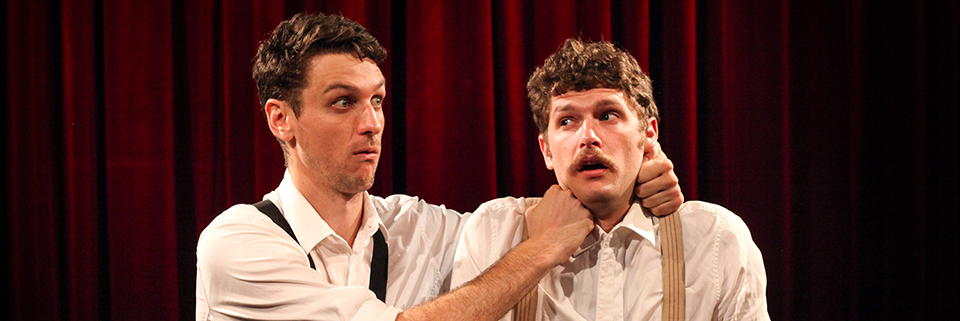 This is a picture of The Bear Pack, Sydney Improvisers Steen Raskopoulos and Carlo Ritchie.