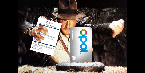 Indiana Jones reaching for Opal card