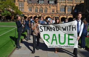 Stand with Raue protestors in 2014