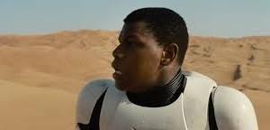 The new Star Wars character, Finn