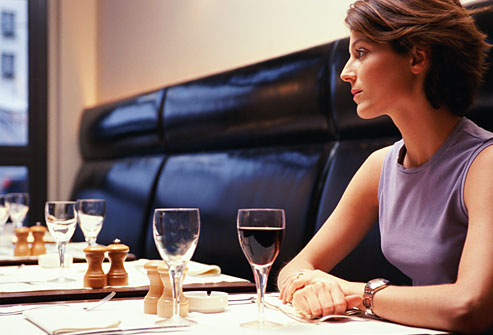 woman at restaurant