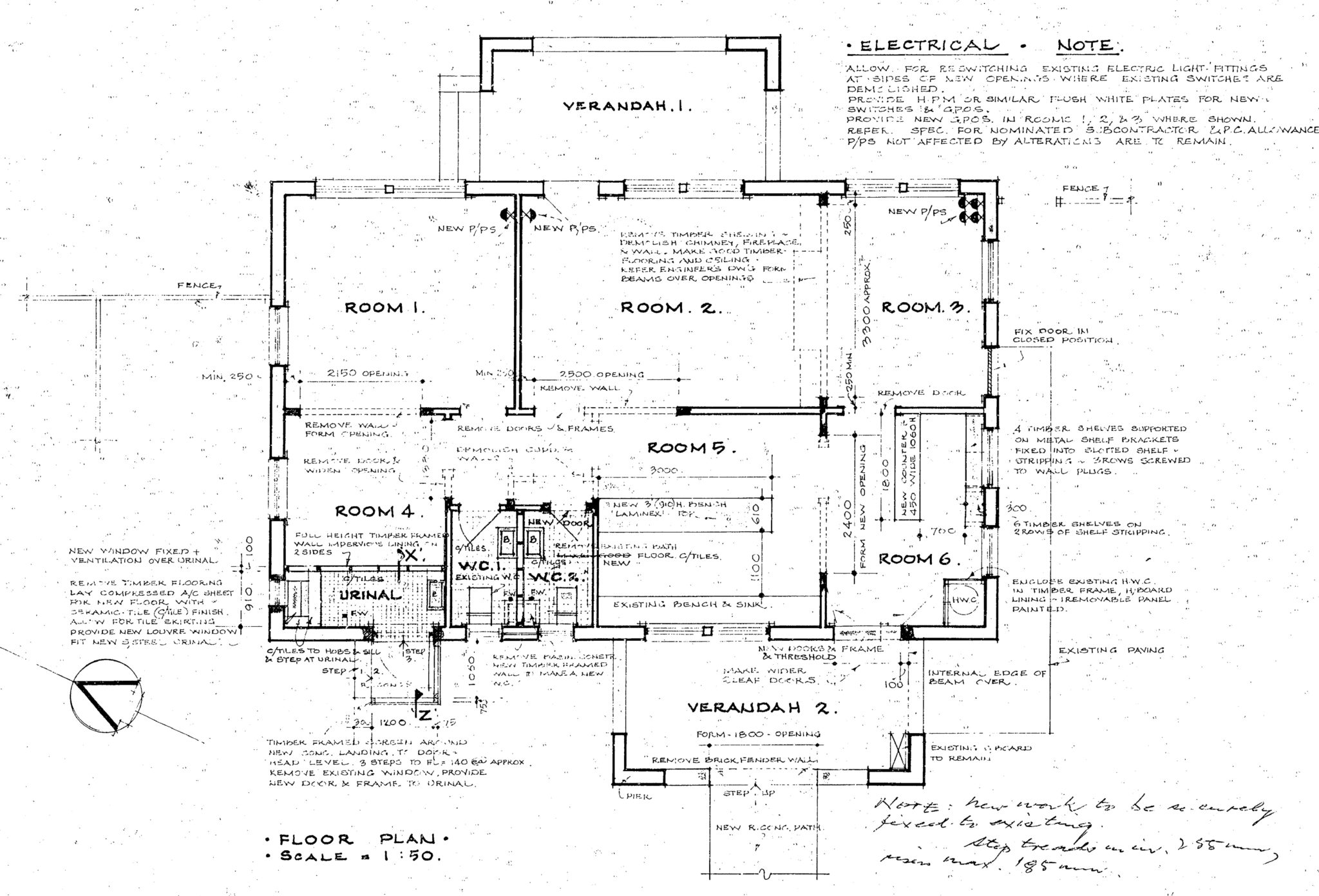Plans of Ross' house from 1976