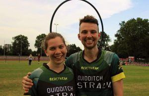 Captains Natalie Astalosh (L) and Luke Derrick