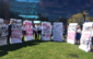 Students protested Open Day by carrying mattresses decrying the University response to sexual harrassment.