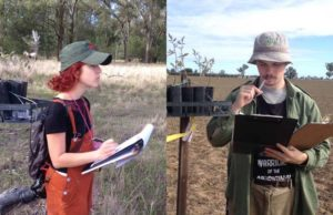 Amelie Vanderstock and Andy Mason at the Leard Forest.