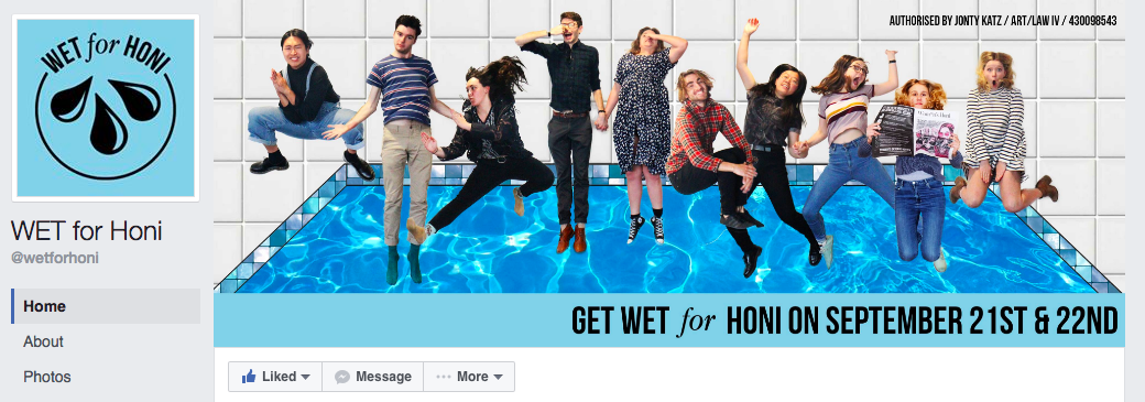 WET for Honi's Facebook page.