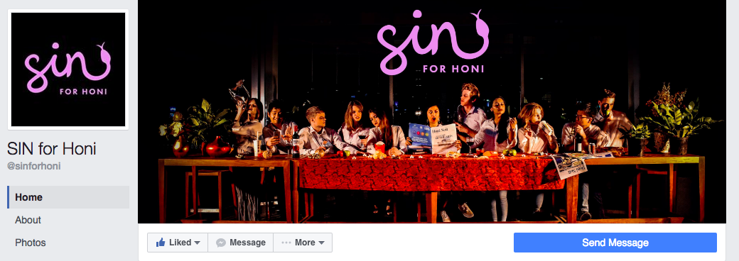 SIN for Honi's Facebook page.