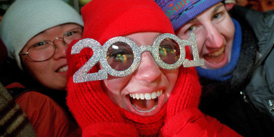 A glimpse of the golden past of novelty New Years' glasses
