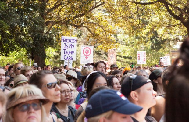 Women's March on Sydney crowd. Photography: Patrick Morrow.