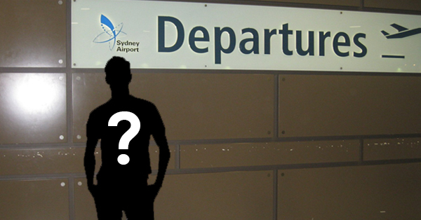 Sydney Airport Departures Sign