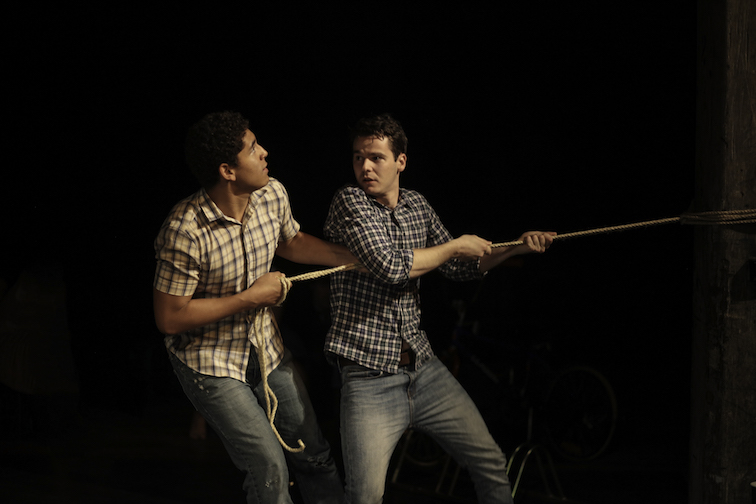 Daruis Williams and Alex Chalwell in Yield. Image by Tracey Schramm.