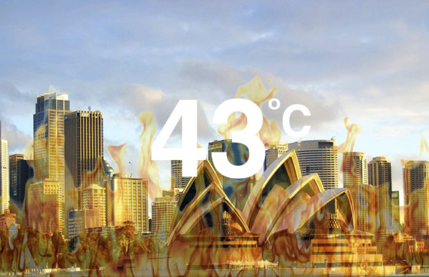 Sydney swelters.