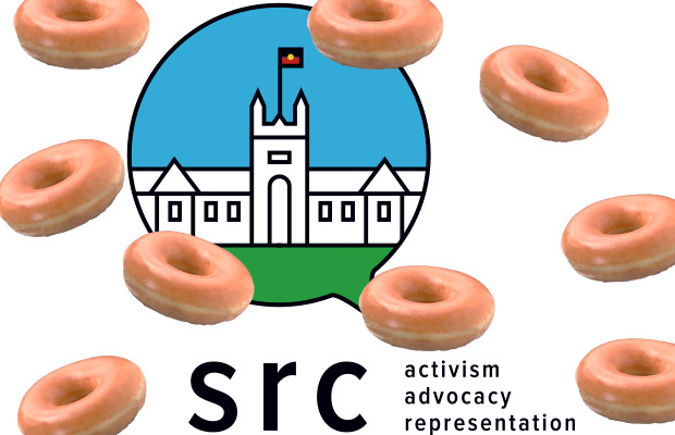 The 2017 SRC logo with Krispy Kreme's around it.