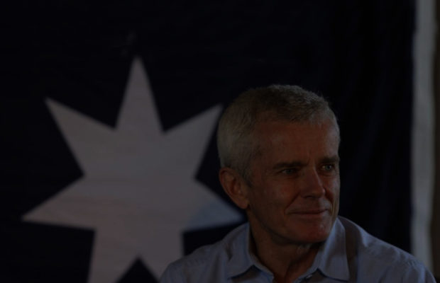 Malcolm Roberts in the dark.