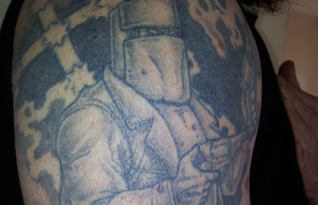 Ned Kelly tattoo