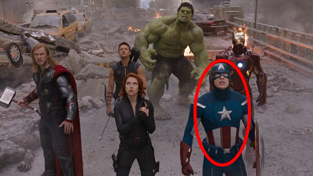 avengers scene with captain america