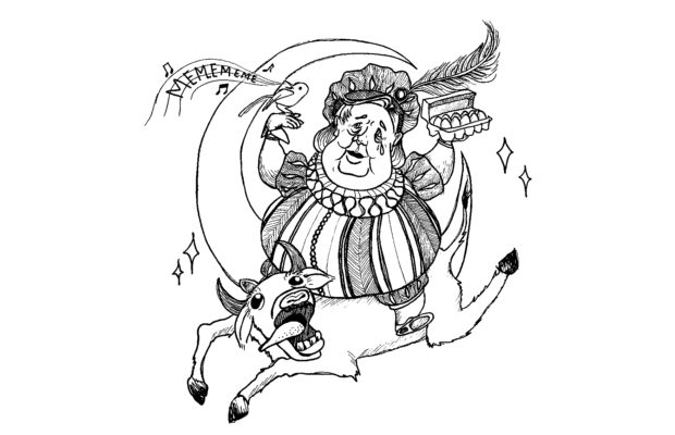 Natalie Ang's caricature of Clive Palmer riding a cow