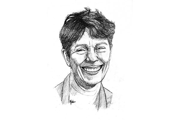 Matthew Fisher's black and white portrait of Tracey Cameron
