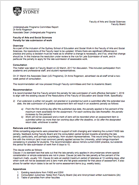 Screenshot of the PDF policy proposal from the FASS meeting earlier today.