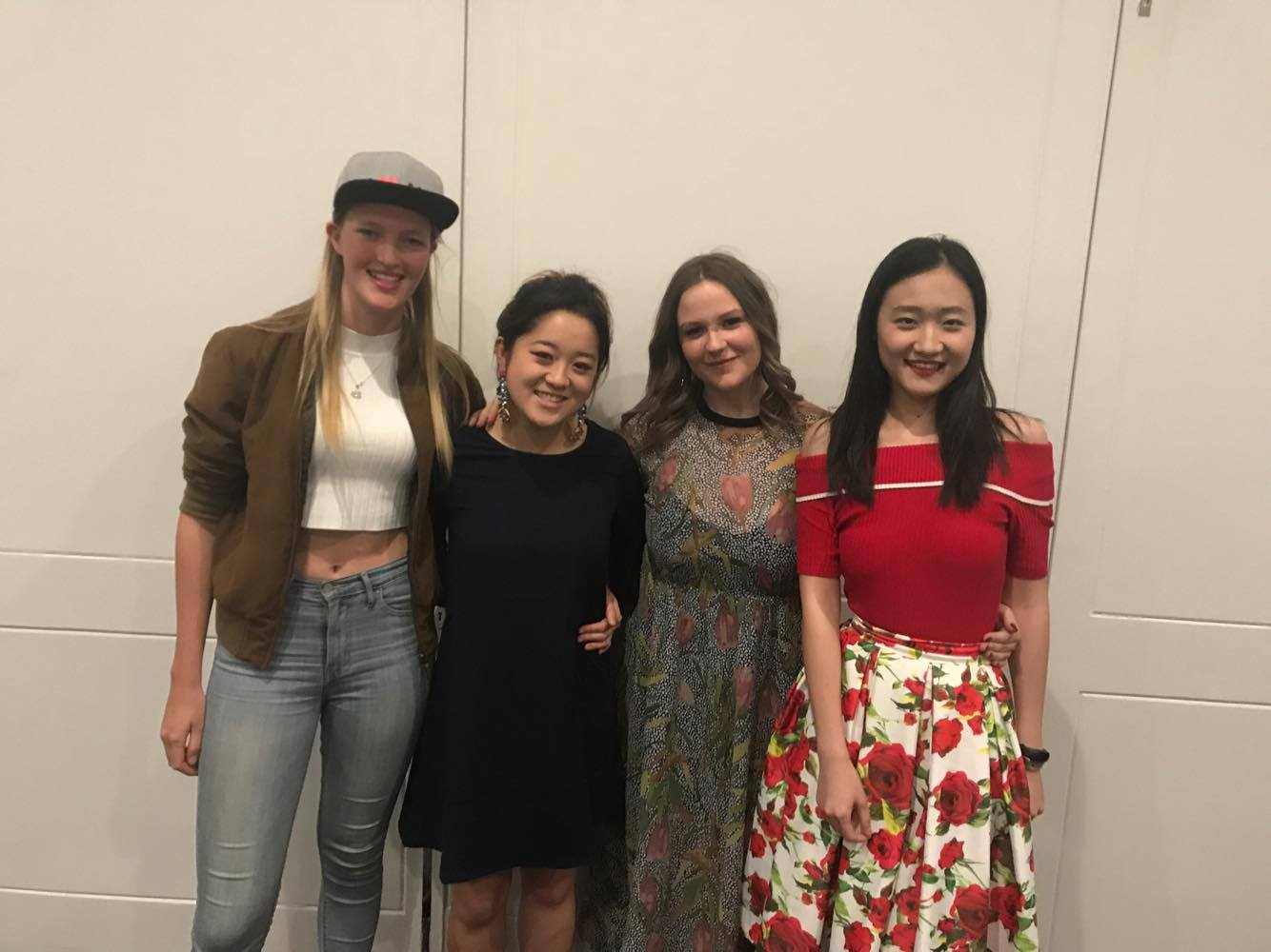 The incoming executive. From left to right: Grace Franki, Honorary Secretary, Esther Shim, Vice President, Courtney Thompson, President and Yifan Kong, Honorary Treasury.