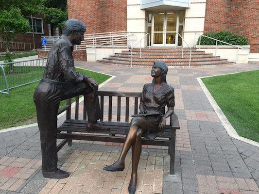 statue of mansplaining man