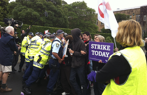 Eastern Avenue Picket Line in 2013