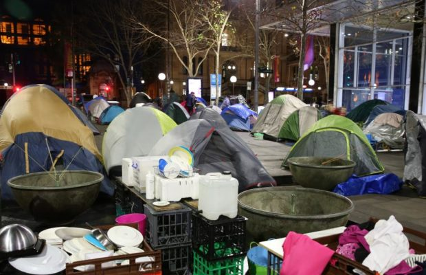 Martin Place's tent city