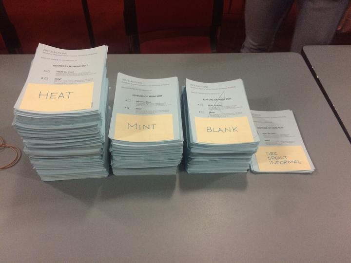 The Honi ballots.