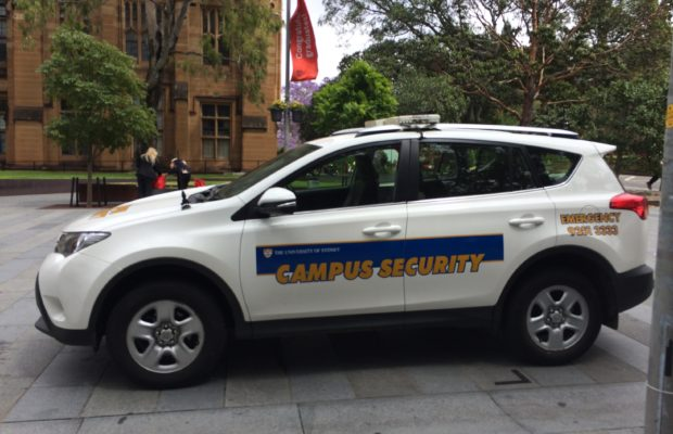 A Campus Security car