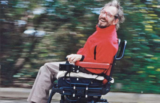 Jacob Baldwin during the Ability Trek journey around Australia: 16,500 kilometres by motorised wheelchair from 1992 to 1996. Jacob Baldwin collection, National Museum of Australia.