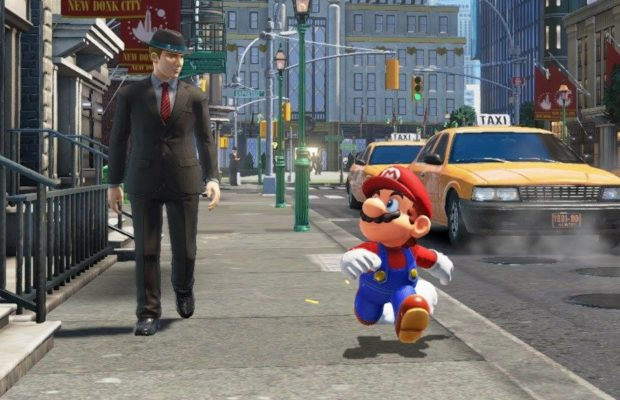 Pictured: Mario, clearly a PoC, next to one of the white inhabitants of New Donk City