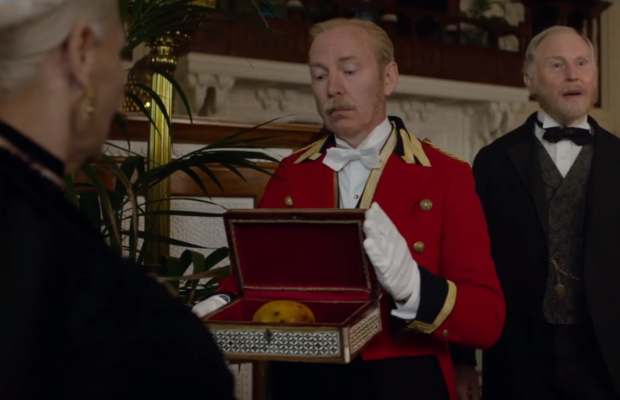 "The biggest laugh in the film comes when one of Victoria's many butlers gets absolutely obliterated for delivering her a rotten mango and all you can think is: ""fuck, I wish I were rich enough that I could do that."""