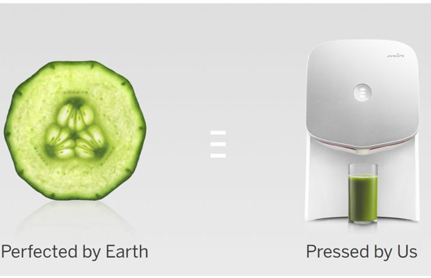 a picture of a cucumber and a juicero