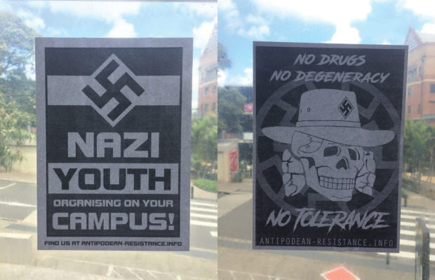 The posters found on campus. Photo: Ann Ding