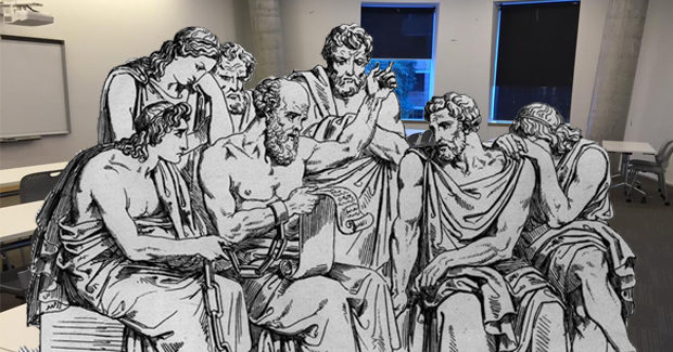 Socrates and intellectuals in a USyd Classroom