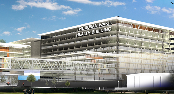 Artist's rendition of the Susan Wakil Health Building, the centrepiece of the new Susan Wakil School of Nursing and Midwifery.