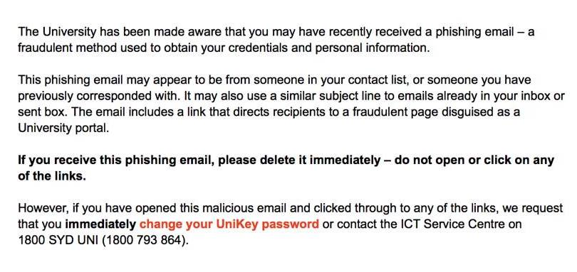 USyd emails fall into mass phishing scam - Honi Soit