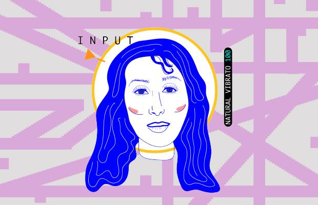 digitally edited drawing of Cher