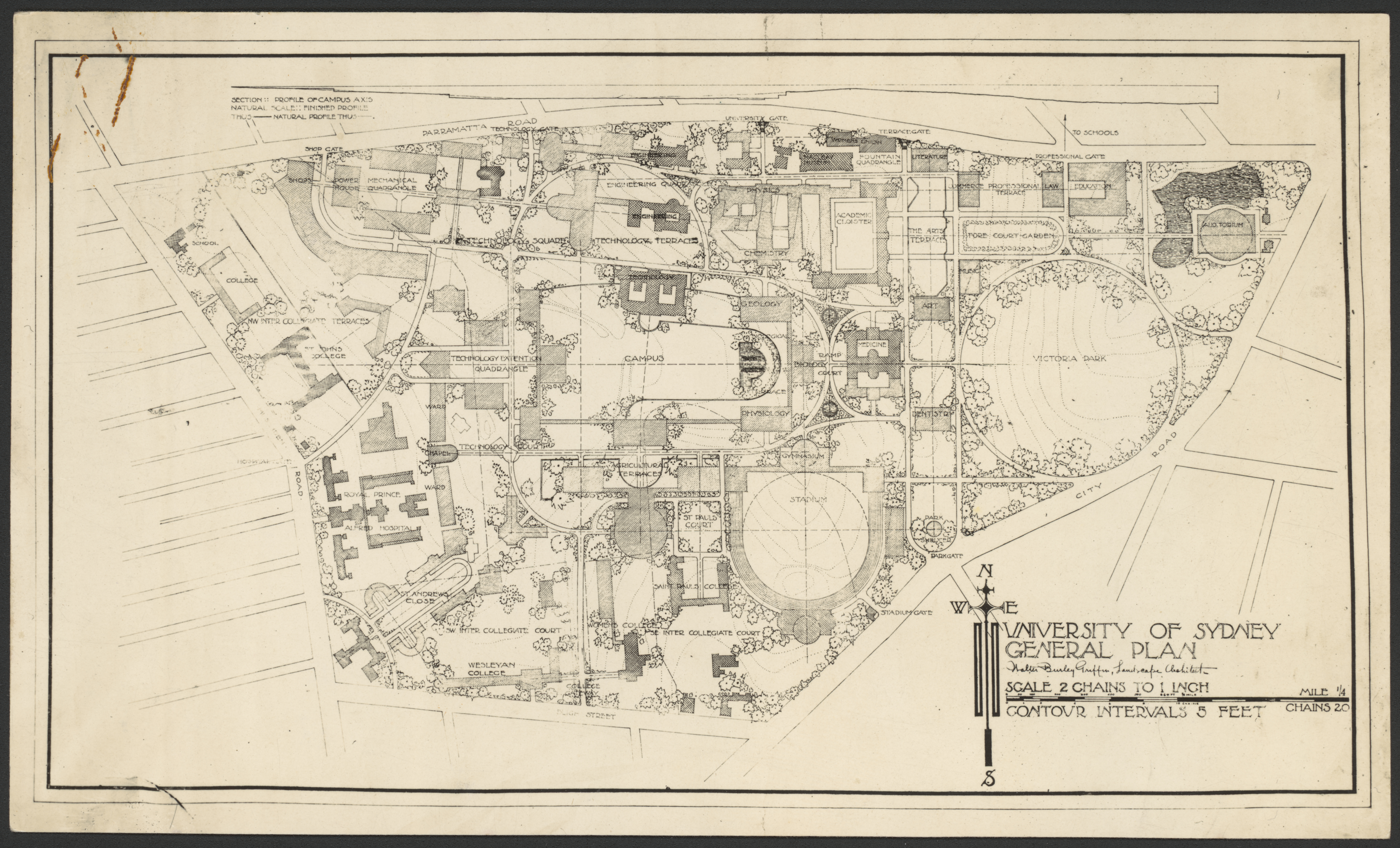Walter Burley Griffin Map